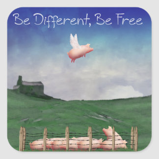 Be Different, Be Free Stickers
