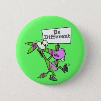 be different funky zebra pattern donkey 2 inch round button