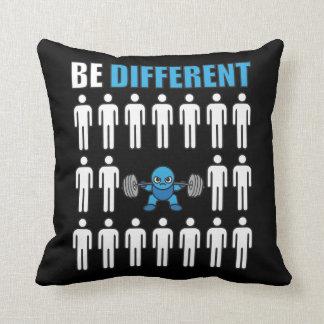 Be Different - Kawaii Anime Bodybuilding Workout Throw Pillow