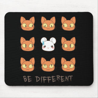 """BE different"" mousepad"
