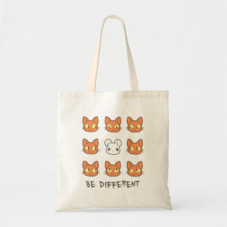 BE Different - 'n mouse cat Tote Bag
