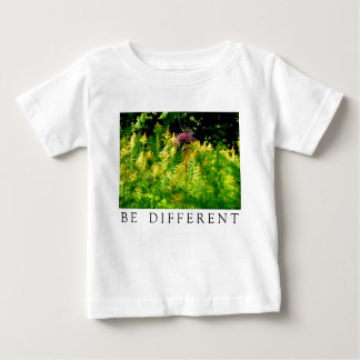 BE DIFFERENT - Pink flower in a field of yellow Baby T-Shirt