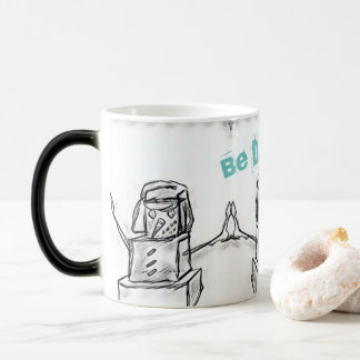 Be Different Square Snowman Morphing Mug