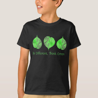 Be Different Think Green Recycle, Earth Day Kids T-Shirt