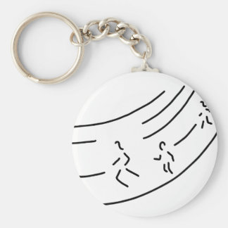 be enough-strain meter run track-and-field events  basic round button keychain