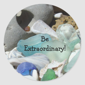 Be Extraordinary! stickers Envelope seals Seaglass