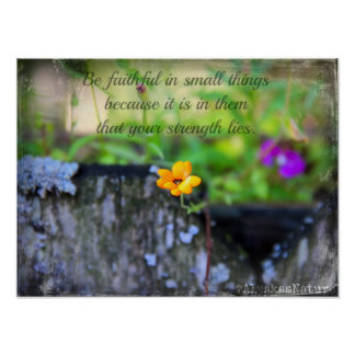 Be faithful in small things Poster