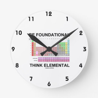 Be Foundational Think Elemental (Periodic Table) Wall Clocks