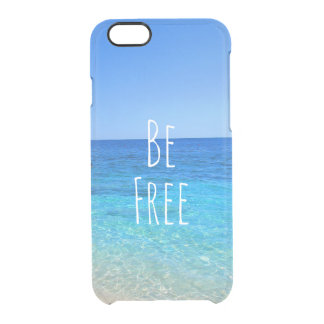 Be free ocean beach tropical wanderlust travel quo clear iPhone 6/6S case