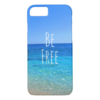 Be free ocean beach tropical wanderlust travel quo iPhone 8/7 case