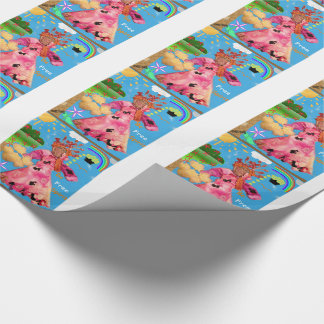 """Be Free Spirit!"" Wrapping Paper"