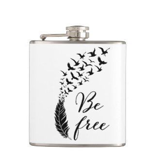 Be free with feather and birds flask
