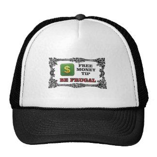 be frugal tip trucker hat