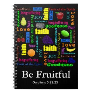 Be Fruitful Spiral Notebook