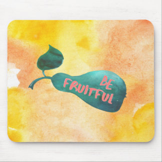 Be Fruitful Watercolor Mouse Pad
