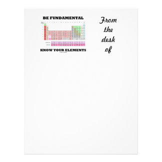 Be Fundamental Know Your Elements (Periodic Table) Letterhead
