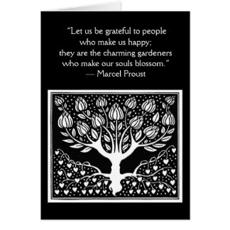 Be grateful to people who make us happy card