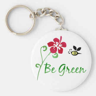 Be Green Keychain
