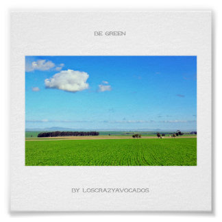 Be Green Vineyard Field Nature Landscape Poster