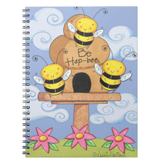 Be Hap-Bee Journal Spiral Note Book