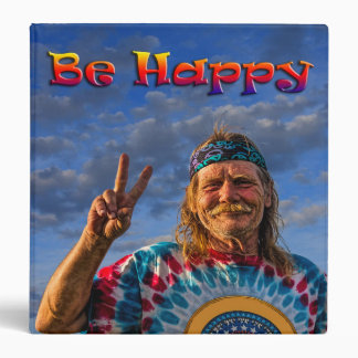 BE HAPPY 3 RING BINDERS
