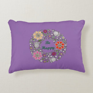 Be Happy Accent Pillow