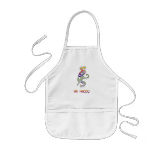 Be Happy Alien, Abstract Kids Apron