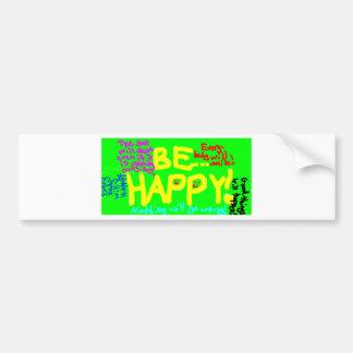 Be_Happy Autocollant De Voiture
