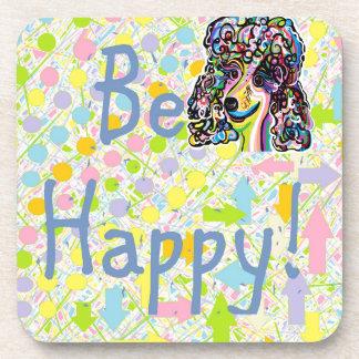 Be Happy Beverage Coasters