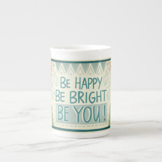 BE HAPPY Bone China Mug