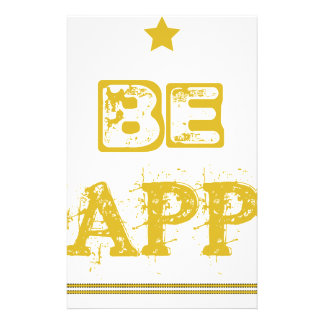 Be Happy Customized Stationery