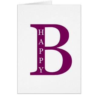 Be Happy (deep purple) Card