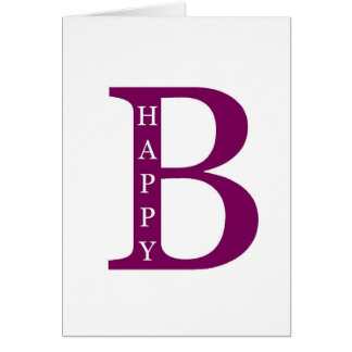 Be Happy (deep purple) Greeting Card