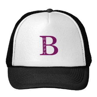 Be Happy (deep purple) Trucker Hat