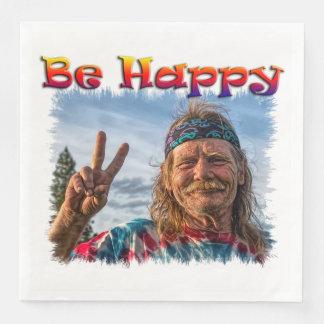 BE HAPPY DISPOSABLE NAPKIN