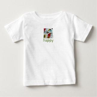 Be Happy Flower Bumblebee Art Baby Jersey T-Shirt