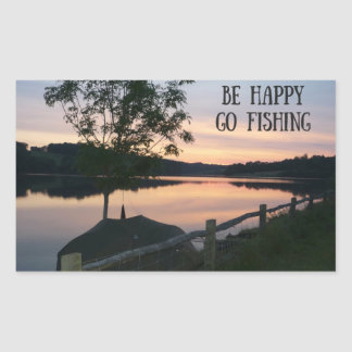"""Be happy Go fishing"" sticker"