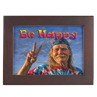 BE HAPPY KEEPSAKE BOX
