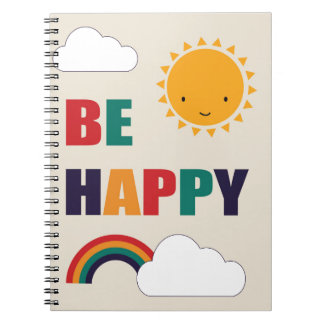 Be Happy Note Book