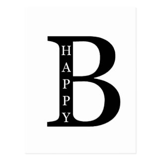 Be Happy (on the inside...black) Postcard