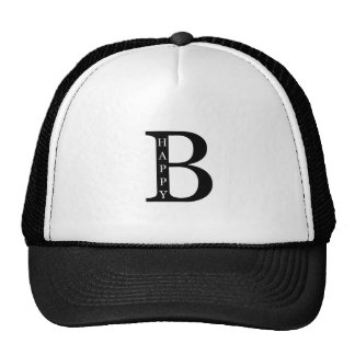 Be Happy (on the inside...black) Trucker Hat
