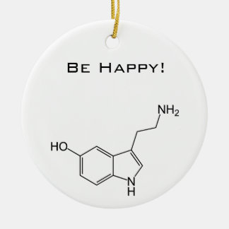 Be Happy! Serotonin Ceramic Ornament