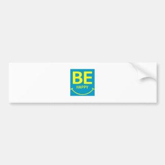 Be happy smile bumper sticker