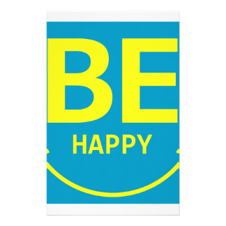 Be happy smile stationery