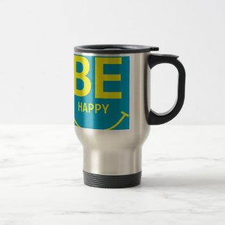 Be happy smile travel mug