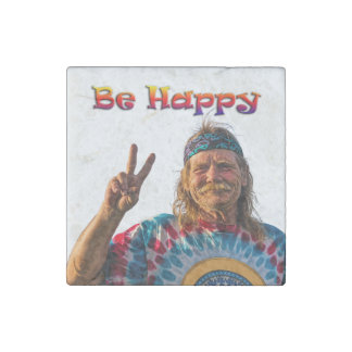 BE HAPPY STONE MAGNETS