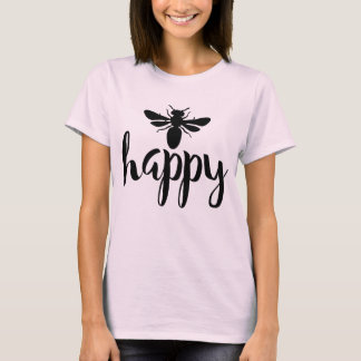 Be Happy Typography Design T-Shirt