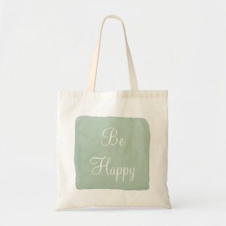 Be Happy Watercolor Tote Bag