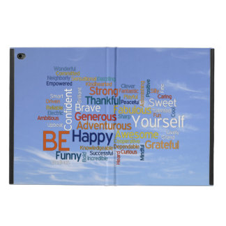 Be Happy Word Cloud in Blue Sky Inspire