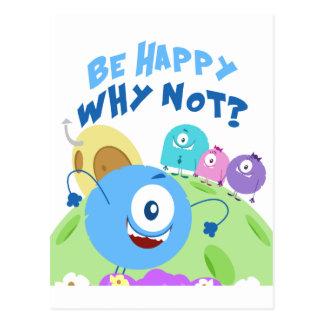 Be Happy Yum Yum Postcard